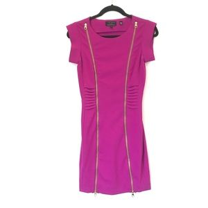 Ted Baker SZ 4 Eshara Exposed Zipper Fitted Dress